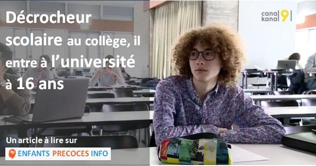 Ce jeune suisse surdoué est entré à l'université à 16 ans après un parcours scolaire chaotique.