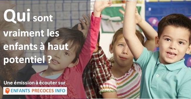 L'émission Tribu de la Radio Télévision Suisse a tenté de répondre à cette question en accueillant Ruth Wermeille, présidente de lʹAssociation suisse pour les Enfants à Haut Potentiel.